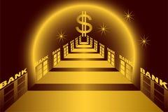 De steeg van de bank. vector illustratie