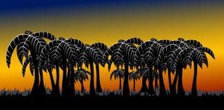 De steeg van de palm royalty-vrije illustratie