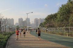 De steeg van de stadsfiets bij tseung kwan O, Hongkong Royalty-vrije Stock Foto
