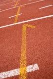 De Steeg van het atletiekspoor stock fotografie