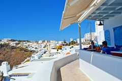 De steeg van het Santorinidorp Royalty-vrije Stock Foto