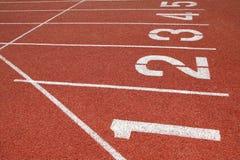 De Steeg van het Spoor van de atletiek Stock Foto