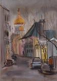 In de steeg van Moskou stock illustratie