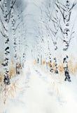De steeg van de de winterberk vector illustratie
