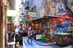 De steegcultuur van Melbourne stock afbeeldingen