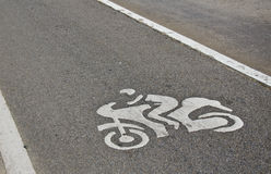 De steegmanier van de fiets Royalty-vrije Stock Afbeeldingen