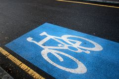De steegteken van de fiets Stock Foto's