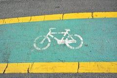 De steegteken van de fiets op weg Stock Fotografie