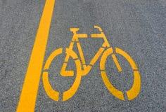 De steegteken van de fiets op weg Royalty-vrije Stock Fotografie