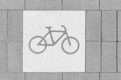 De Steegteken van de fietsstraat Stock Fotografie
