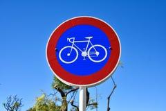 De Steegteken van de fietsstraat in Buenos aires Stock Foto