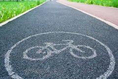 De steegteken van de fiets Stock Fotografie