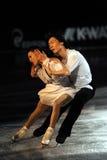 De Steek van Qing en het ijsschaatser van de Ton Jian bij het Feest van het Ijs van 2010 Royalty-vrije Stock Afbeeldingen