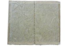 De steekboek van de hand; vezelige, brede mening Stock Foto's