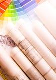 De steekproef van de kleur stock afbeeldingen