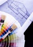De steekproef van de kleur royalty-vrije stock afbeelding