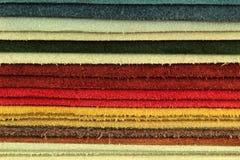 De steekproefplukker van het kleurenpalet van leermateriaal Stock Fotografie