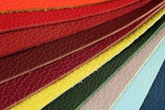 De steekproefplukker van het kleurenpalet van leermateriaal Stock Foto