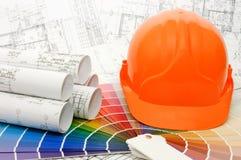 De steekproeven van de kleur voor selectie met huisplan Stock Fotografie