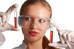 De Steekproeven van het bloed Stock Foto's