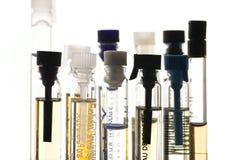 De steekproeven van het parfum royalty-vrije stock afbeelding