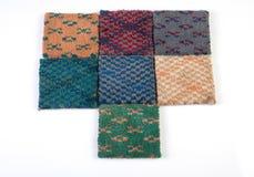 De steekproeven van het tapijt Stock Fotografie