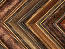 De steekproevengoud en brons van de omlijsting stock afbeelding