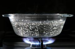 De steelpan van het glas royalty-vrije stock fotografie