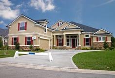 De steen accentueert nieuw huis 7 Royalty-vrije Stock Afbeelding