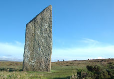De steen bij de Ring Brodgar royalty-vrije stock afbeelding