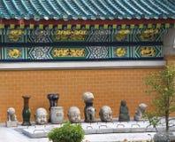 De Steen Buddhas Hongkong van de Details van de Muur van de draak royalty-vrije stock fotografie