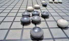 De steen Chinees gaat royalty-vrije stock afbeelding