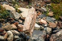 De steen is in gevoelig evenwicht stock fotografie