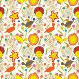 De Steen Naadloze Pattern_eps van de vogel vector illustratie