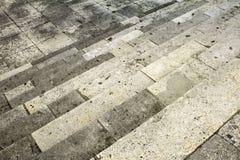 De steen van cementtreden Royalty-vrije Stock Foto's