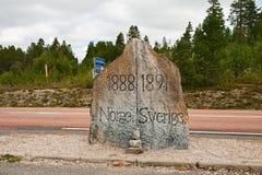 De steen van de grens Stock Fotografie