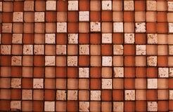 De steen van de mengeling en glas beige mozaïek Stock Afbeelding