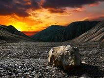De steen van de zonsondergang Stock Foto