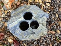 De steen van Difrent stock afbeeldingen