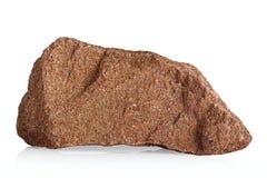 De steen van het graniet op een witte achtergrond. royalty-vrije stock afbeelding