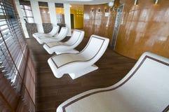 De steenbedden van de sauna Royalty-vrije Stock Fotografie