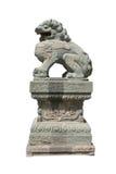 De steenbeeldhouwwerk 3 van de leeuw Stock Fotografie