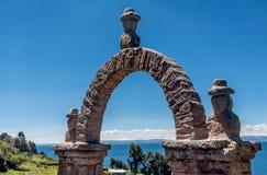 De steenboog neer Puno, Peru Royalty-vrije Stock Foto