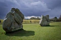 De steencirkel van Avebury Stock Foto's