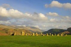 De steencirkel van Castlerigg, de zomer Stock Foto's
