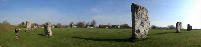 De steencirkel Wiltshire van Avebury royalty-vrije stock fotografie