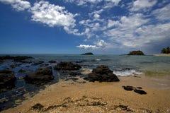 de steene eilanden in bemoeiziek zijn Madagascar Royalty-vrije Stock Foto's