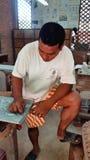 De steengravure, Siem oogst, Kambodja Stock Foto's
