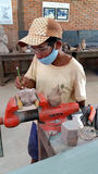 De steengravure, Siem oogst, Kambodja Royalty-vrije Stock Foto's