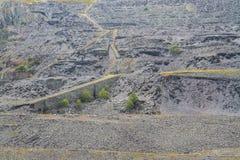 De Steengroeve van de Dinorwiclei, massieve uitgraving van helling Stock Foto